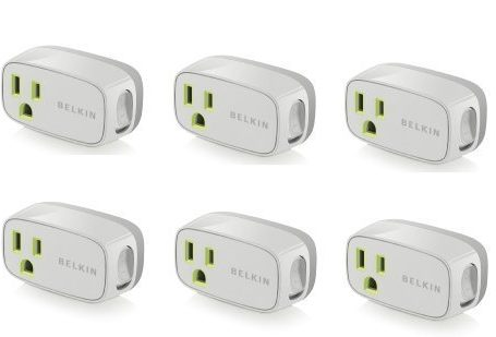 6-Pack-Belkin-Power-Conserve-Illuminated-Switch-F7c016q-Bulk-Packaging-0