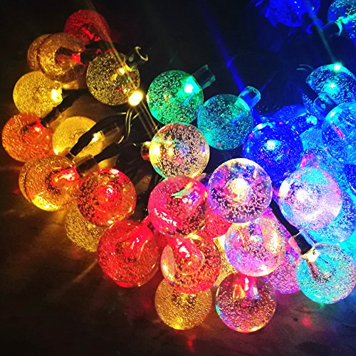 60led 36ft 4color crystal ball solar string lights for garden patio outdoor solar christmas lights previous next workwithnaturefo