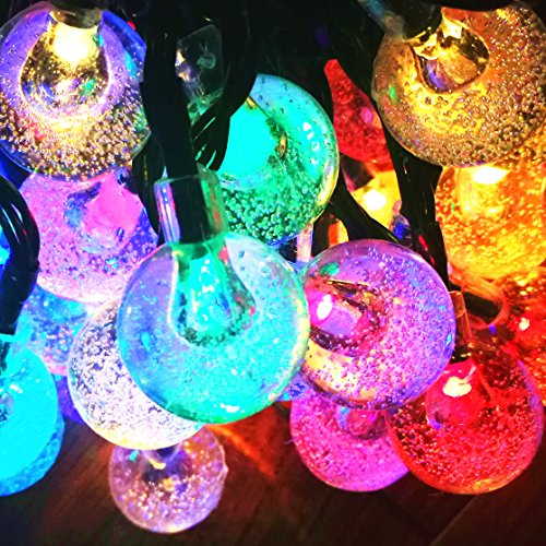 60led 36ft 4color crystal ball solar string lights for garden patio christmas tree sogrand solar lights outdoor solar christmas lights previous next aloadofball Choice Image