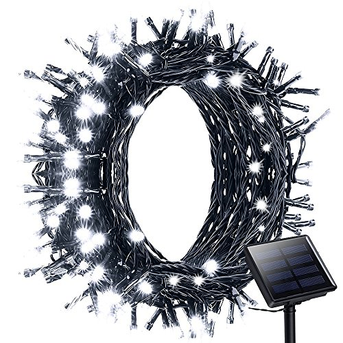 Litom-Solar-Outdoor-200-LED-String-Lights-7218-ft-Solar-Powered-Waterproof-Decorative-Light-with-8-Working-Modes-for-GardenHomePartyBedroomXmasOutdoor-Decorations-0