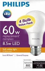 Philips-New-60-Watt-Equivalent-A19-LED-Light-Bulb-Soft-White-2700K-4-Pack-0