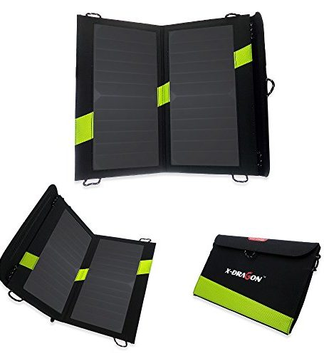 X-DRAGON-High-Efficency-Sunpower-Solar-Panel-Charger-with-iSolar-Technology-for-iPhone-ipad-iPods-Samsung-Android-Smartphones-and-MoreiSolar-Technology-Foldable-Portable-0